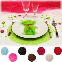 Set de table rond intissé X4