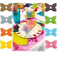 Attache tulle papillon x24