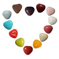 Mini Dragées Coeurs chocolat 250gr