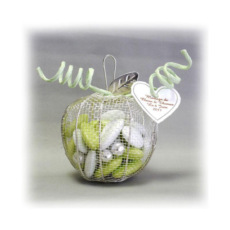 Dragées Mariage - Pomme dragees fer forgé