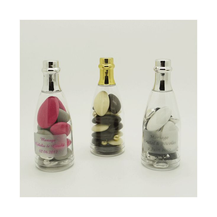 Dragees Mariage Mini Bouteille Champagne Dragees Or Ou Argent