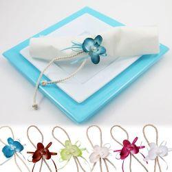 Déco de table - Orchidée attache serviette X2
