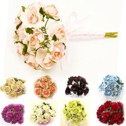 Mini rose papier x12