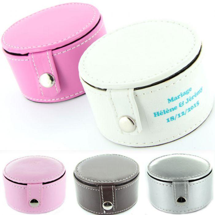 Boite drag es cuir ronde fleurs de drag es - Fabricant boite fer blanc ...