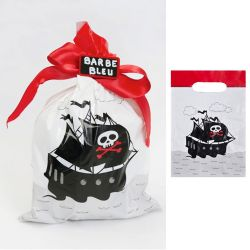 Sac bonbon Pirate lot de 6