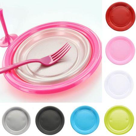 Assiette plastique Ronde Ø17 cm (lot de 25)