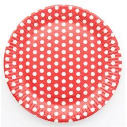 Assiette pois les 10 pieces - Rouge
