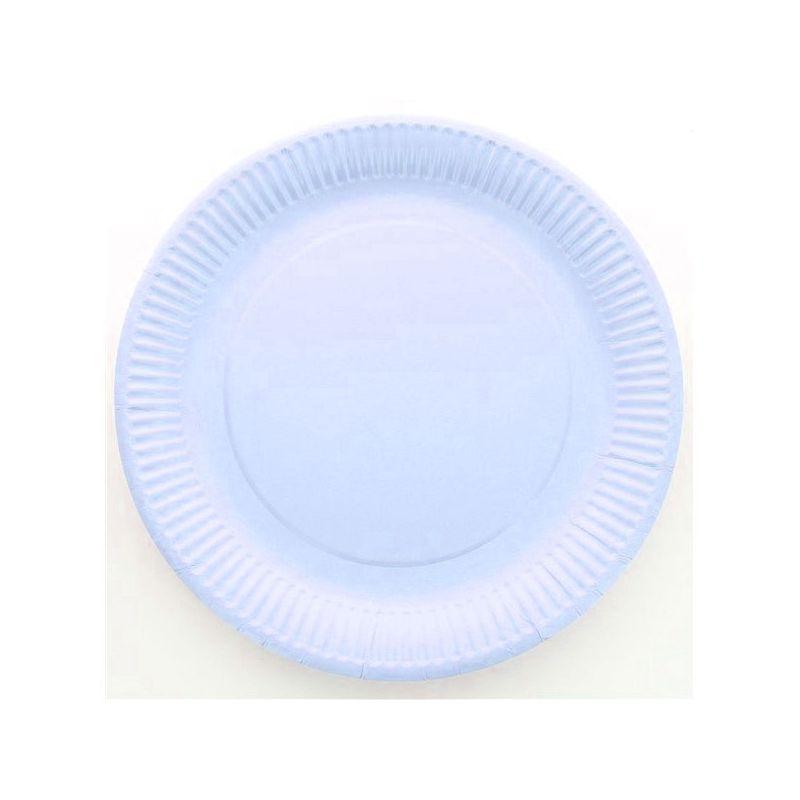 assiette jetable 23cm ronde bleu lot de 10 vaisselle jetable. Black Bedroom Furniture Sets. Home Design Ideas