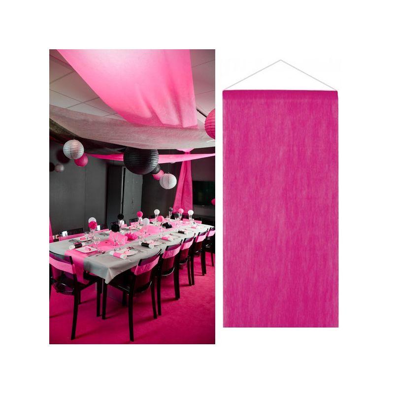tenture salle mariage pas cher 12m tre fushia d co de salle. Black Bedroom Furniture Sets. Home Design Ideas