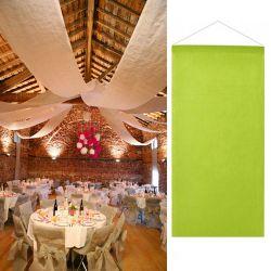 Tenture salle mariage pas cher (12mètre) - Vert anis