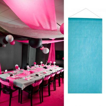 Tenture salle mariage pas cher (12mètre) - Turquoise