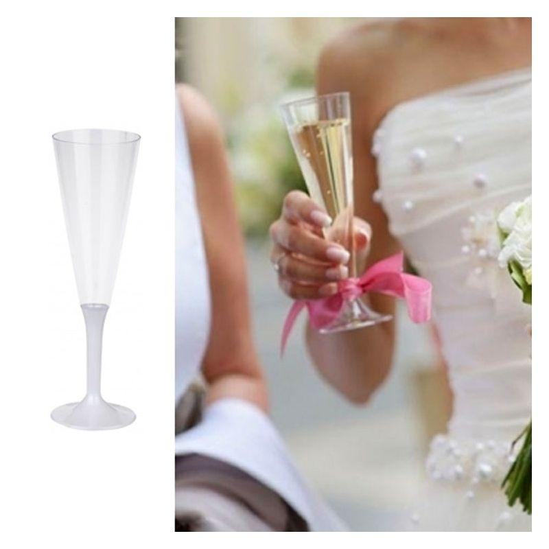 Flûte champagne plastique 13cl (10psc) - Blanc