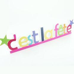 """Déco de table """"c'est la fête"""""""
