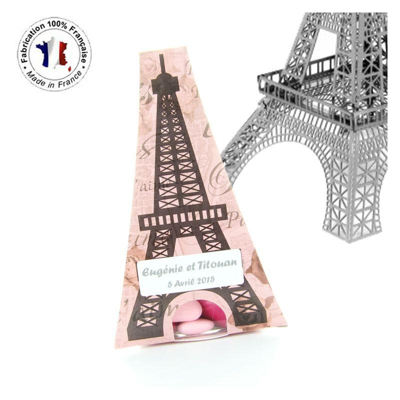Boîte dragée carton Tour Eiffel (les 6)
