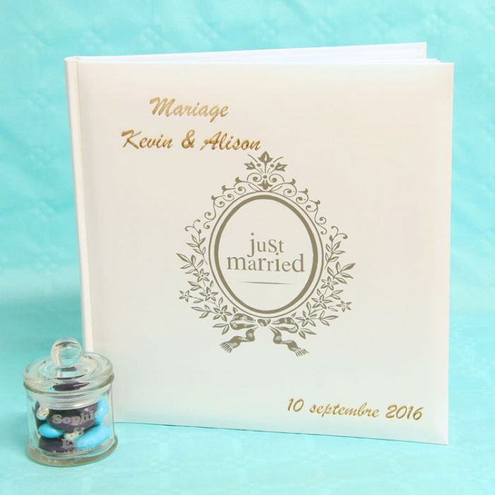 Livre D Or Mariage Personnalise Et Album Photo Just Married