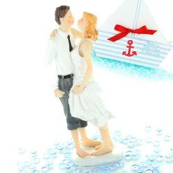 Figurine mariage Mariés pieds dans l'eau