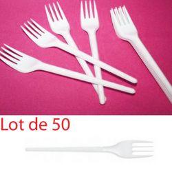 Fourchette plastique jetable économique (les 50)