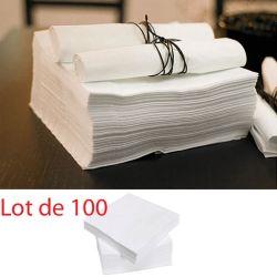 Serviette papier Blanche 40x40cm (100 pièces)