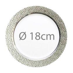 Assiette reutilisable argentée Prestige 18cm (lot de 5)