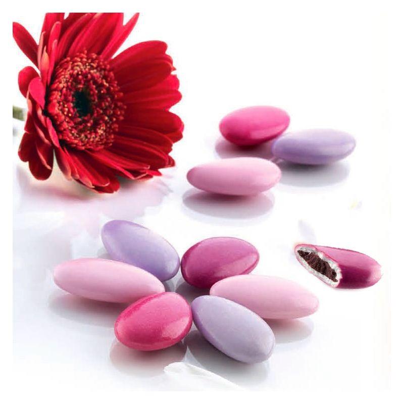 Dragées chocolat thème Rosé - 1kg