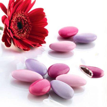 Dragées chocolat thème Rosé 72% - 1kg