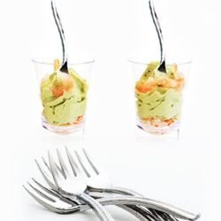 Mini fourchette cocktail / déssert. Argenté 50psc