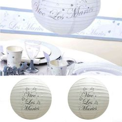Lampion décoration salle mariage (lot de 2)