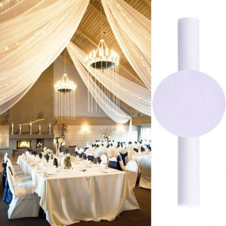 Tenture salle mariage en Tulle 25m - Blanche