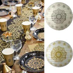 Lampion décoration Oriental Ø 30cm (lot de 2)