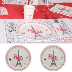 Assiette jetable Tour eiffel PARIS (lot 10)