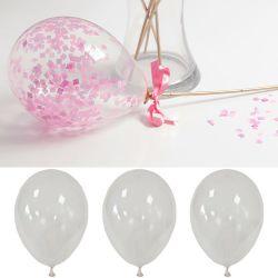 Ballons transparent à confettie 30cm