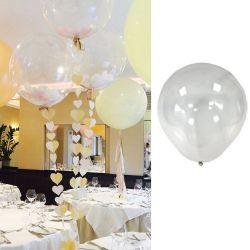Ballon transparent géant mariage à confettis