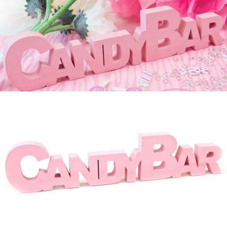 Centre de table CANDY BAR - Rose