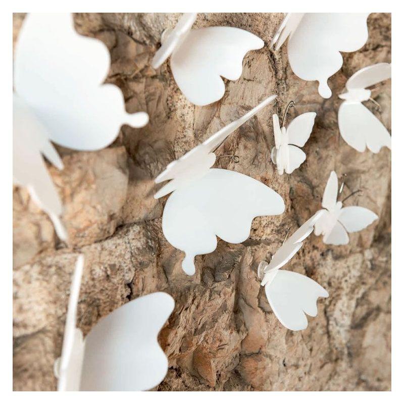 Papillon déco blanc PVC