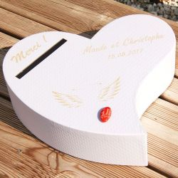 Urne personnalisée - Coeur