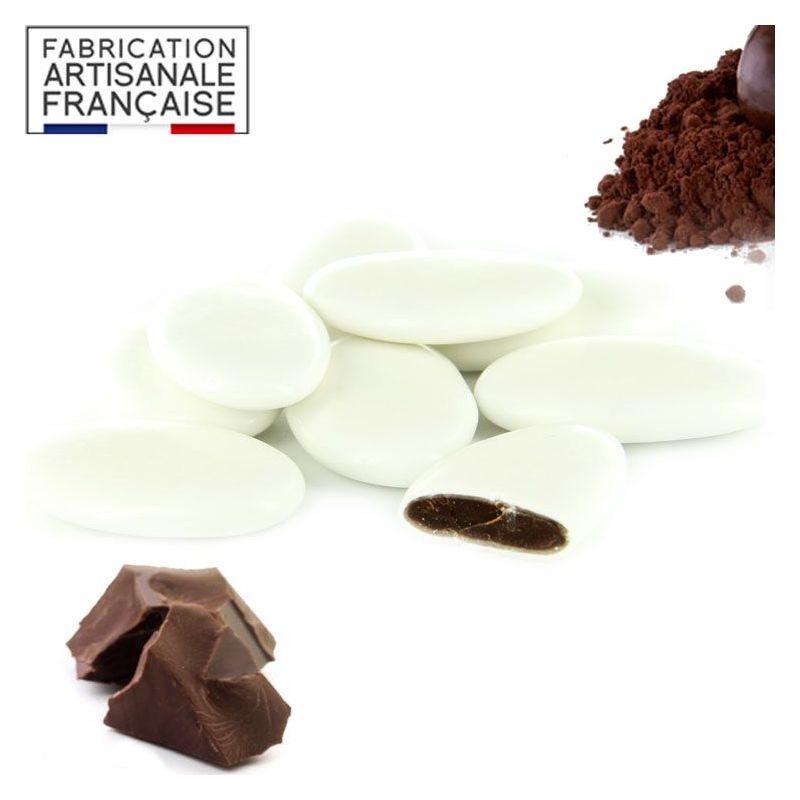 Dragées Chocolat pas cher - Blanc 1kg
