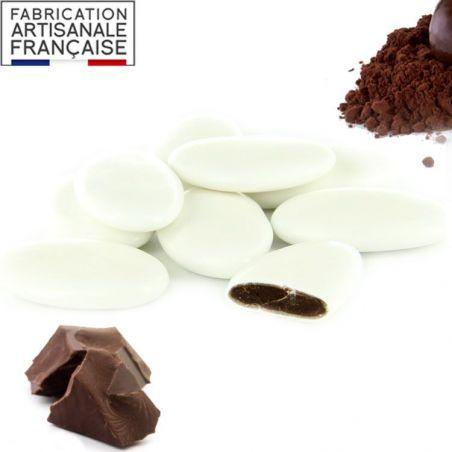 Dragées Chocolat 72% pas cher - Blanc 1kg