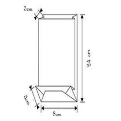 Sachet confiseries fond carré 8 x 24cm