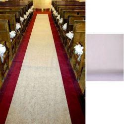 Tapis blanc mariage