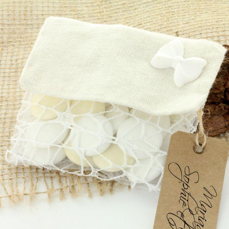 752cdbbad6 Mini Pochette femme pour dragées couleur blanche