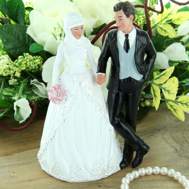 figurine de g teau mariage couple mari musulman. Black Bedroom Furniture Sets. Home Design Ideas