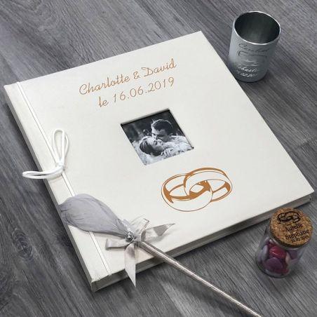 Livre d'or personnalisé / Album photo - Alliances mariage