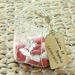 Dragées mariage - Mini sac à main dragées fer forgé