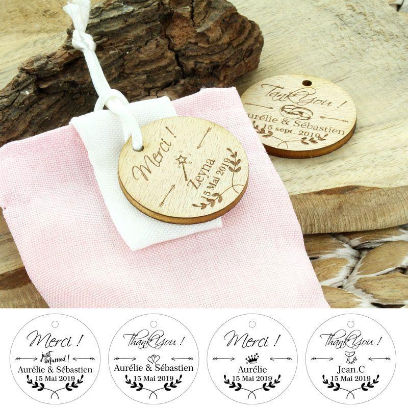 Etiquettes bois personnalisée - Ronde