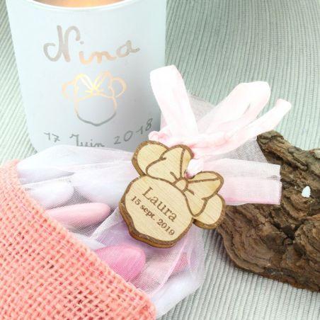 Etiquettes dragées bois Minnie (les 14)