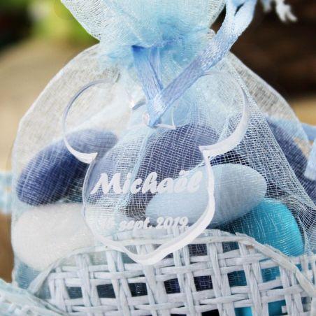 Étiquette dragées Plexi Mickey