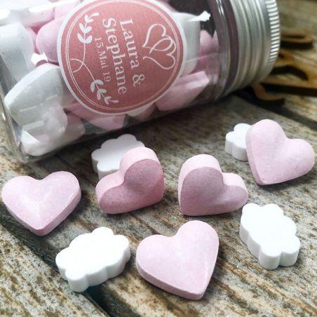 Bonbon mariage Coeur dextrose 500psc - Rose