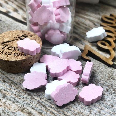 Bonbon bapteme mini Nuages dextrose 990psc - Rose