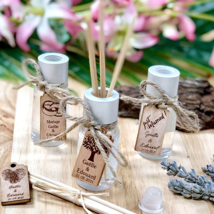 10 Cadeau Invité Mariage Mini Diffuseur Parfum Personnalisé