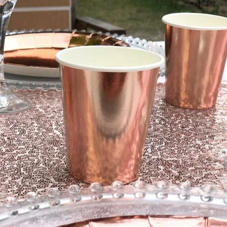 Gobelet rose gold 6 pieces